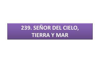 239 . SEÑOR DEL CIELO, TIERRA Y MAR