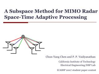 A Subspace Method for MIMO Radar Space-Time Adaptive Processing