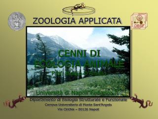 CENNI DI ECOLOGIA ANIMALE Prof. Biagio D�Aniello