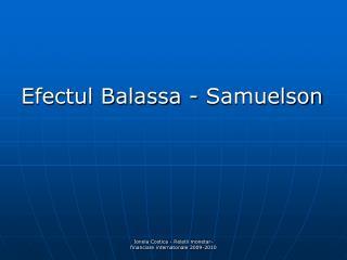 Efectul Balassa - Samuelson
