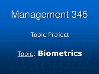 Management 345