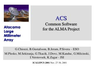 ACS Common Software  for the ALMA Project
