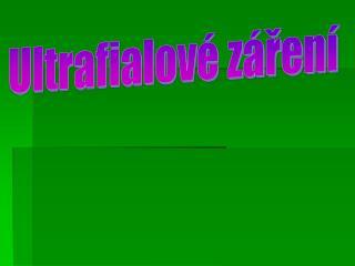 Ultrafialové záření