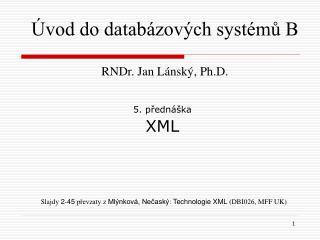 5. přednáška XML