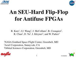 An SEU-Hard Flip-Flop for Antifuse FPGAs