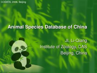 Animal Species Database of China