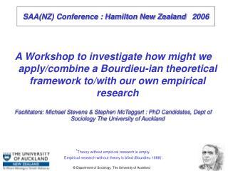 SAA(NZ) Conference : Hamilton New Zealand    2006