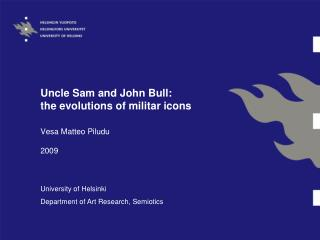 Uncle Sam and John Bull: the evolutions of militar icons
