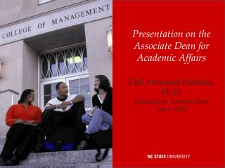 Presentation on the Associate Dean for Academic Affairs