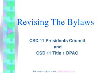 Revising The Bylaws