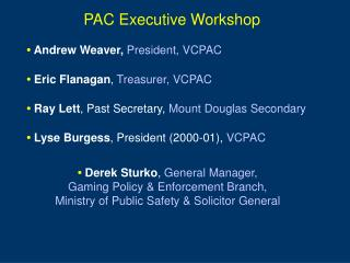 PAC Executive Workshop