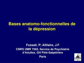 Bases anatomo-fonctionnelles de la dépression