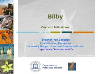 Stephen van Leeuwen   Program Leader, Biogeography