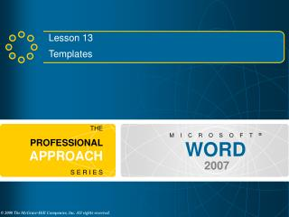 Lesson 13 Templates
