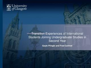 Transition Experiences of International Students Joining Undergraduate Studies in Second Year