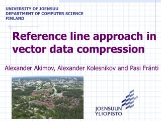 Reference line approach in vector data compression