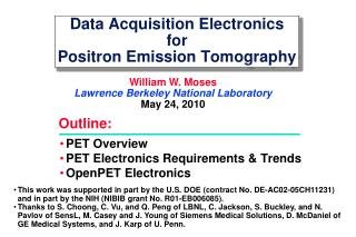 Data Acquisition Electronics for Positron Emission Tomography