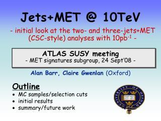 Jets+MET @ 10TeV