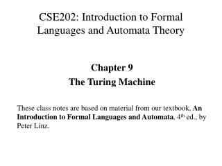 CSE202: Introduction to Formal Languages and Automata Theory