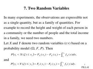 7. Two Random Variables