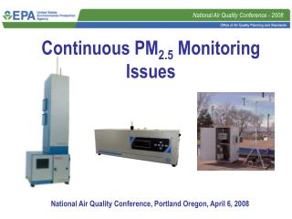 Continuous PM2.5 Monitoring Issues