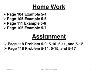 Page 104 Example 5-4 Page 105 Example 5-5 Page 111 Example 5-6 Page 105 Example 5-7