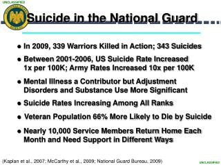 Suicide in the National Guard