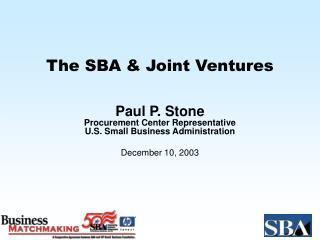 The SBA  Joint Ventures