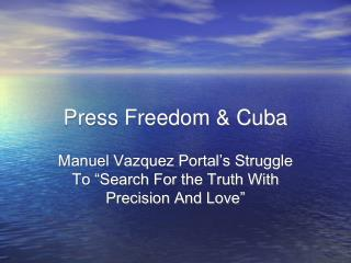 Press Freedom & Cuba
