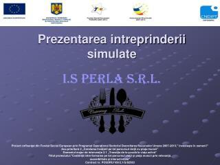 Prezentarea intreprinderii simulate