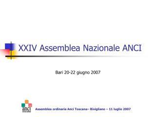 XXIV Assemblea Nazionale ANCI