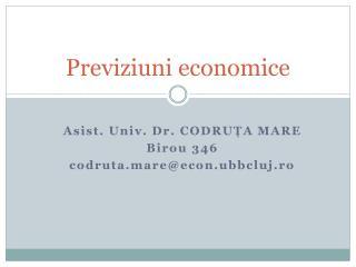 Previziuni economice