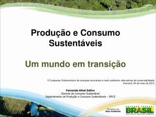 II Congresso Sulamericano de energias renováveis e meio ambiente: alternativas de sustentabilidade