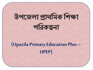 উপজেলা প্রাথমিক শিক্ষা পরিকল্পনা ( Upazila  Primary Education Plan – UPEP)