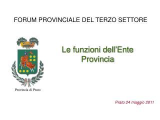 FORUM PROVINCIALE DEL TERZO SETTORE