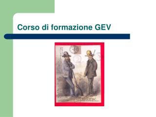 Corso di formazione GEV