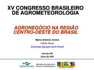 XV CONGRESSO BRASILEIRO DE AGROMETEOROLOGIA