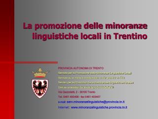 La promozione delle minoranze linguistiche locali in Trentino