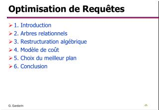 Optimisation de Requ tes