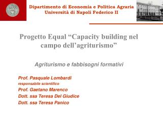 Dipartimento di Economia e Politica Agraria  Universit� di Napoli Federico II