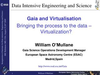 Data Intensive Engineering and Science