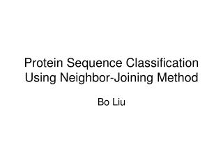 Protein Sequence Classification Using Neighbor-Joining Method