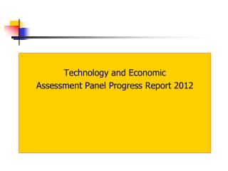 Technology and Economic  Assessment Panel Progress Report 2012