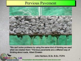 Pervious Pavement