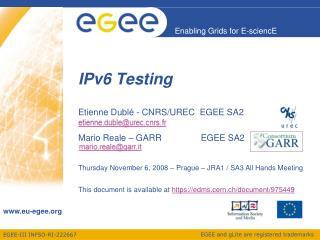 IPv6 Testing