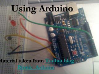 Using  Arduino