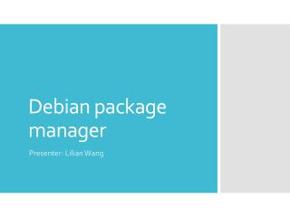 Debian  package  manager
