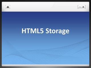 HTML5 Storage