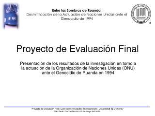 Proyecto de Evaluación Final