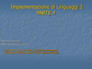 Implementazione di Linguaggi 2 PARTE 4
